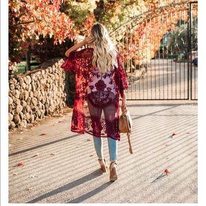 SILVIA | Lace Kimono Cardigan |